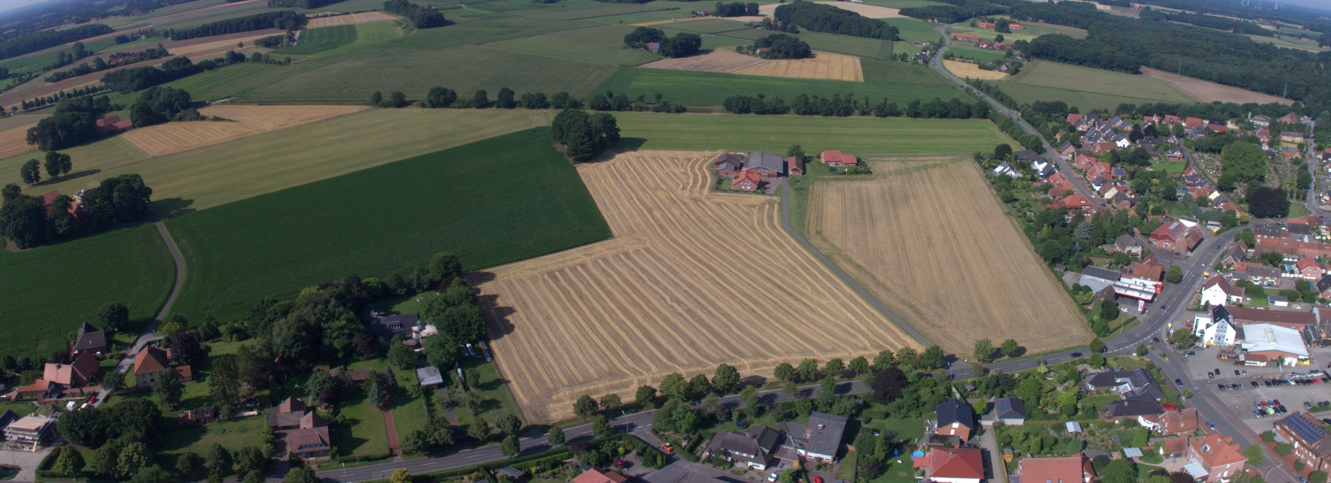 Luftbild Ortsrand, B474